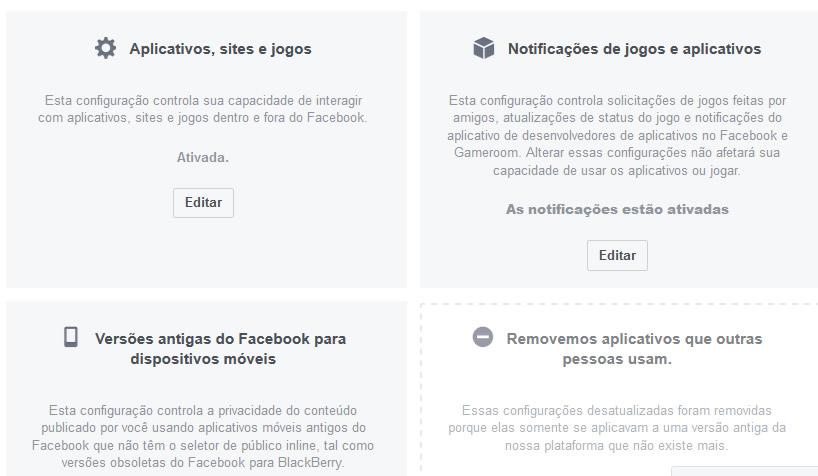 configuracoes privacidade facebook