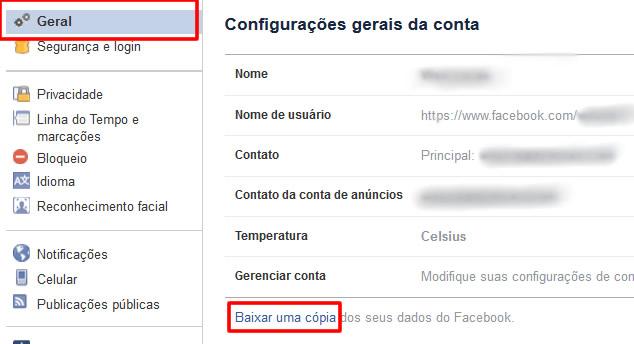 download dados facebook
